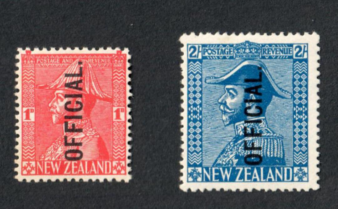 NEW ZEALAND 1926 Geo 5th Officials. Set of 2. - 4315 - LHM image 0