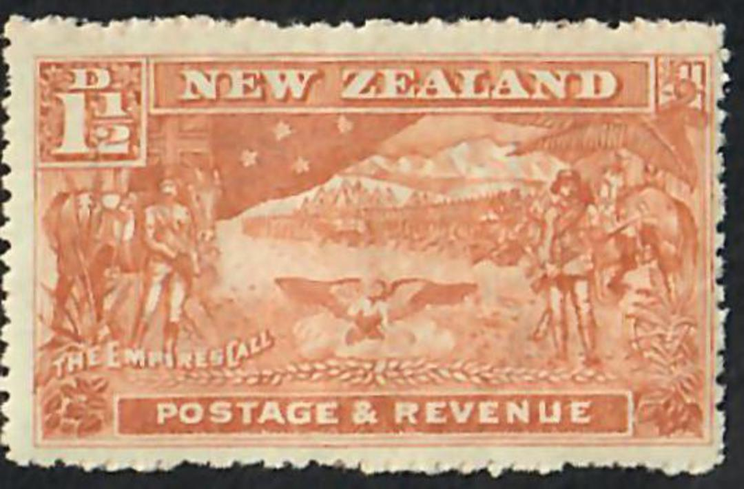 NEW ZEALAND 1898 Pictorial 1½d Chestnut. Perf 14. Nice clean copy with original gum browning but not toned. No hinge remains. Ce image 0