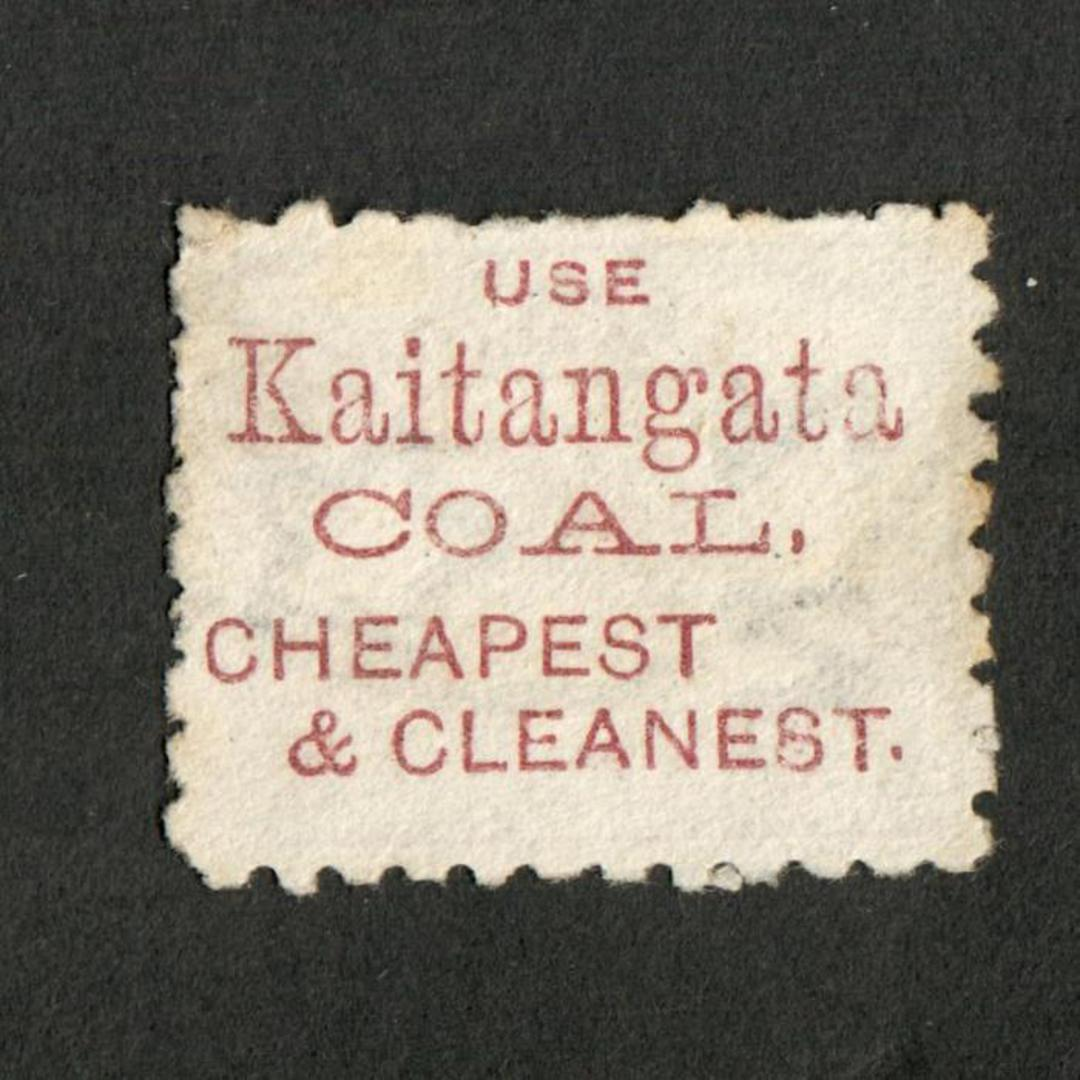 NEW ZEALAND 1882 Victoria 1st Second Sideface 5d Olive-Black. Perf 10. 3rd Setting Mauve. Kaitangata Coal. - 3997 - Used image 0