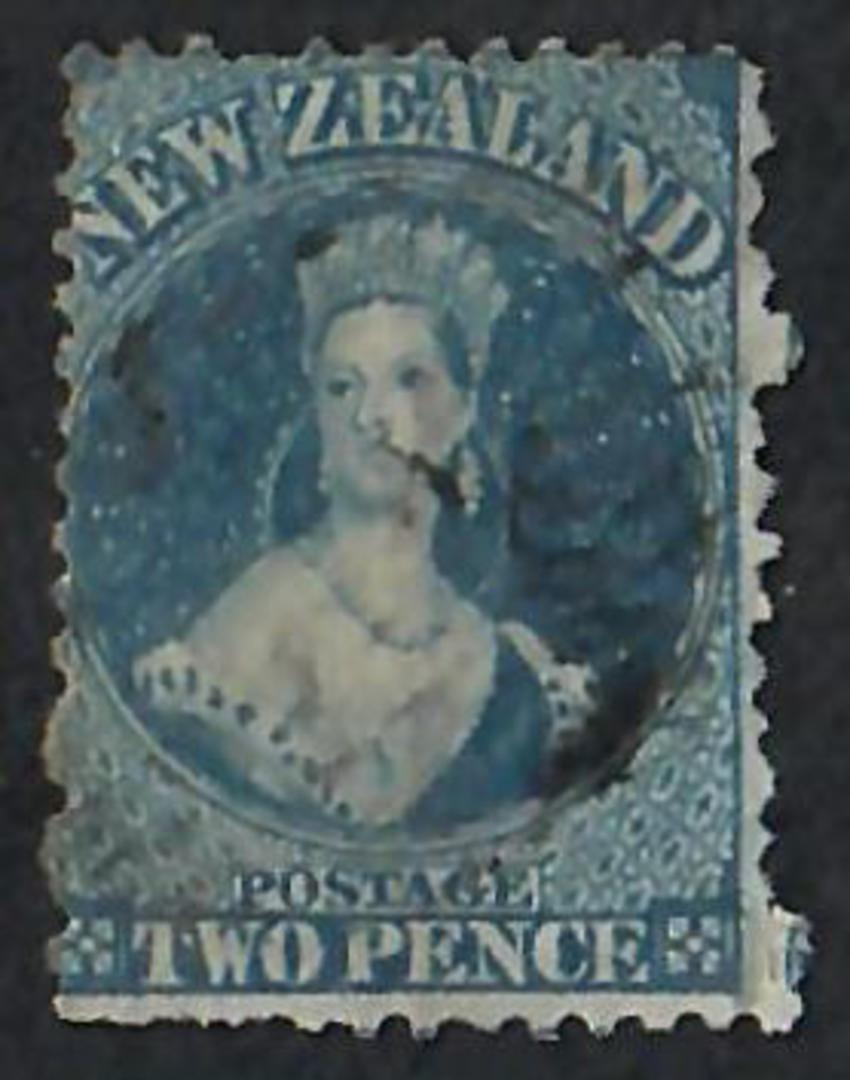 NEW ZEALAND 1862 Full Face Queen 2d Blue Perf 12½. Lovely colour and no sign of plate wear. - 60004 - FU image 0