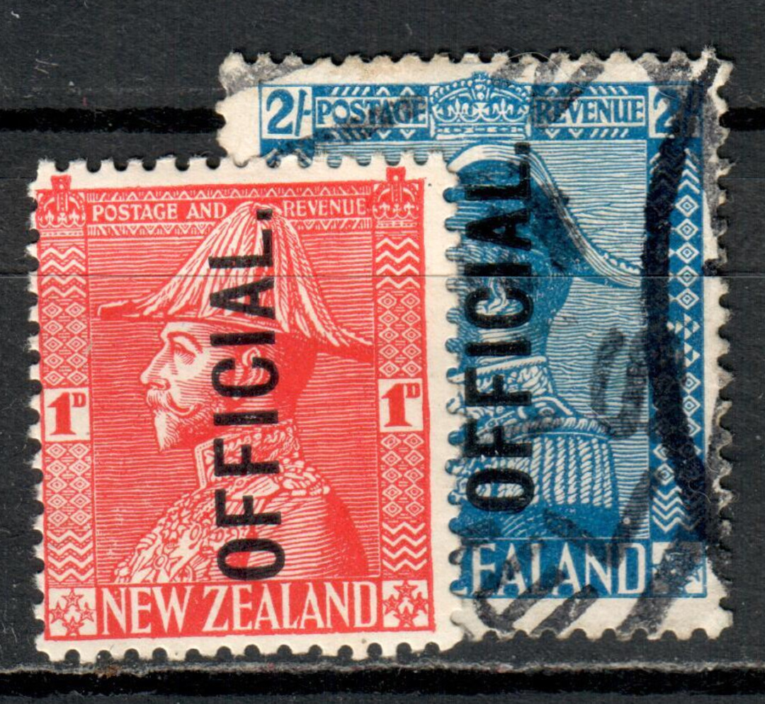 NEW ZEALAND 1926 Geo 5th Admirals Official. Set of 2. - 71601 - GU image 0