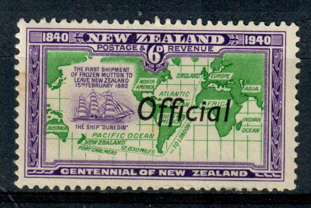 NEW ZEALAND 1940 Centenary Official 6d Emerald-Green and Violet. - 246 - UHM image 0