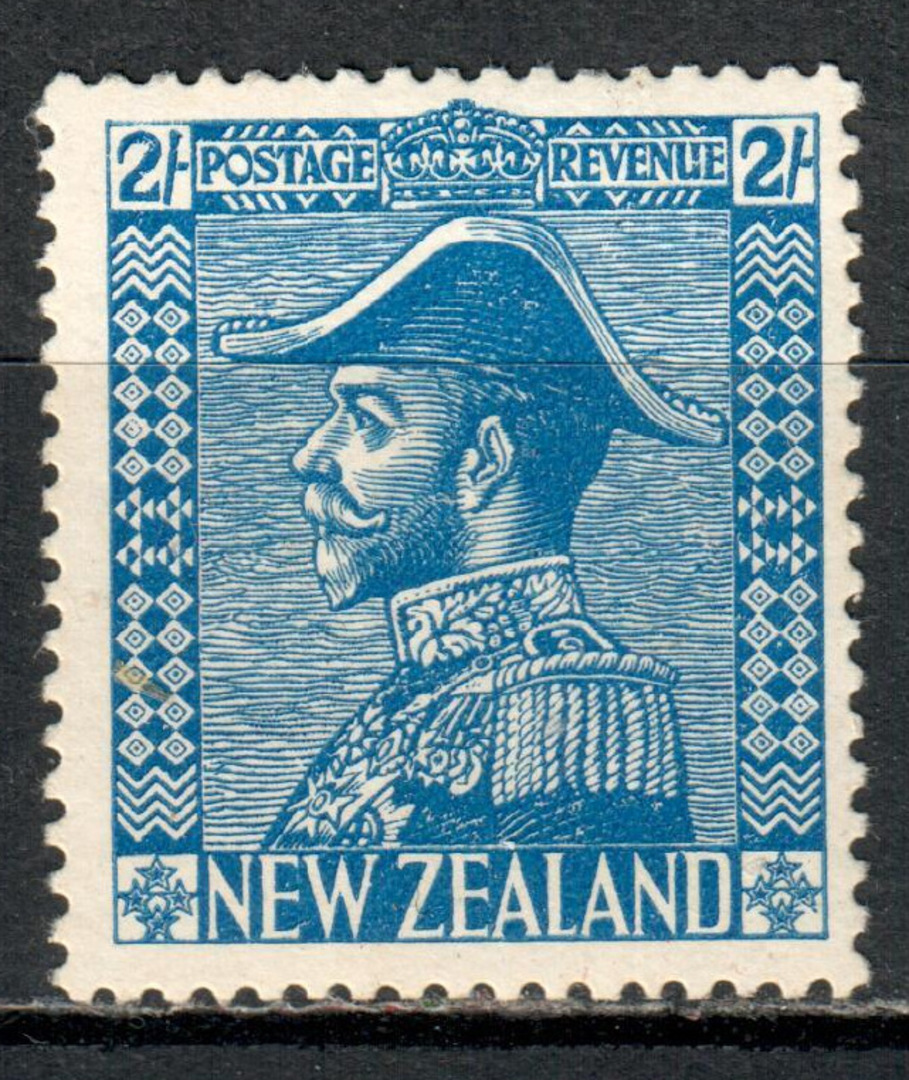 NEW ZEALAND 1926 Geo 5th Admiral 2/- Blue. - 71325 - LHM image 0