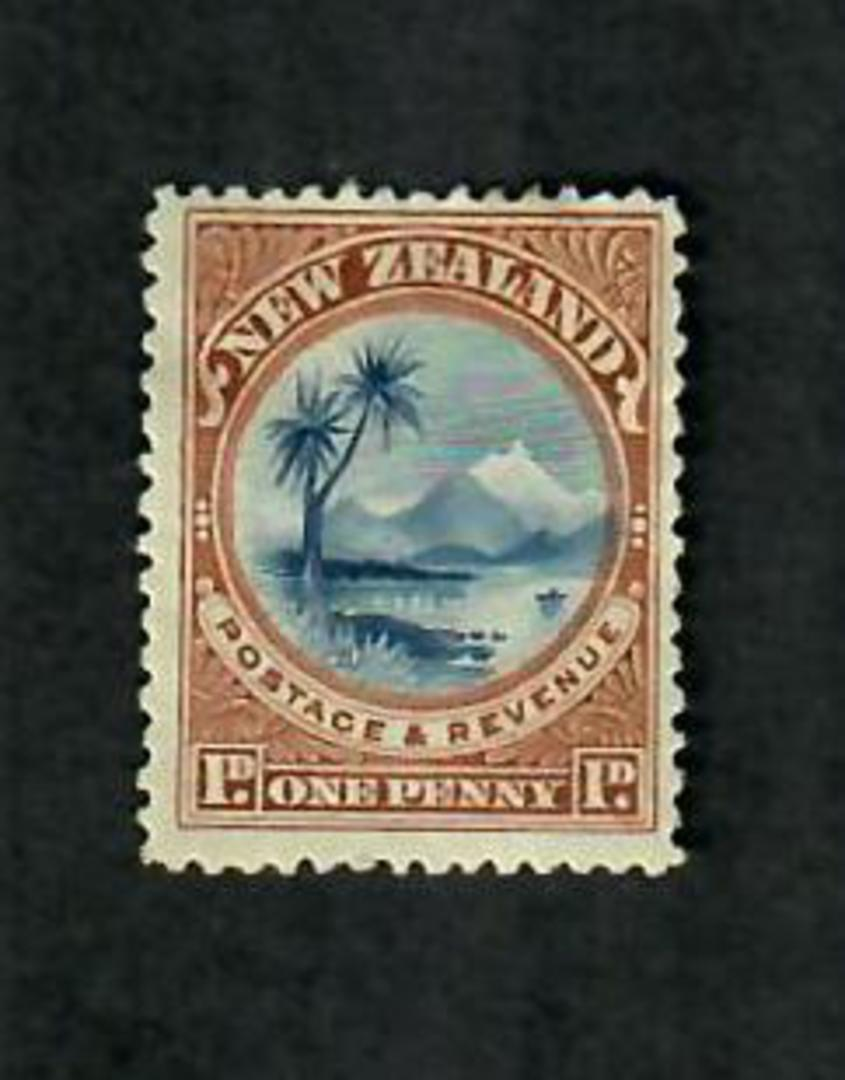 NEW ZEALAND 1898 Pictorial 1d Taupo. Perf 15x14. - 75089 - Mint image 0