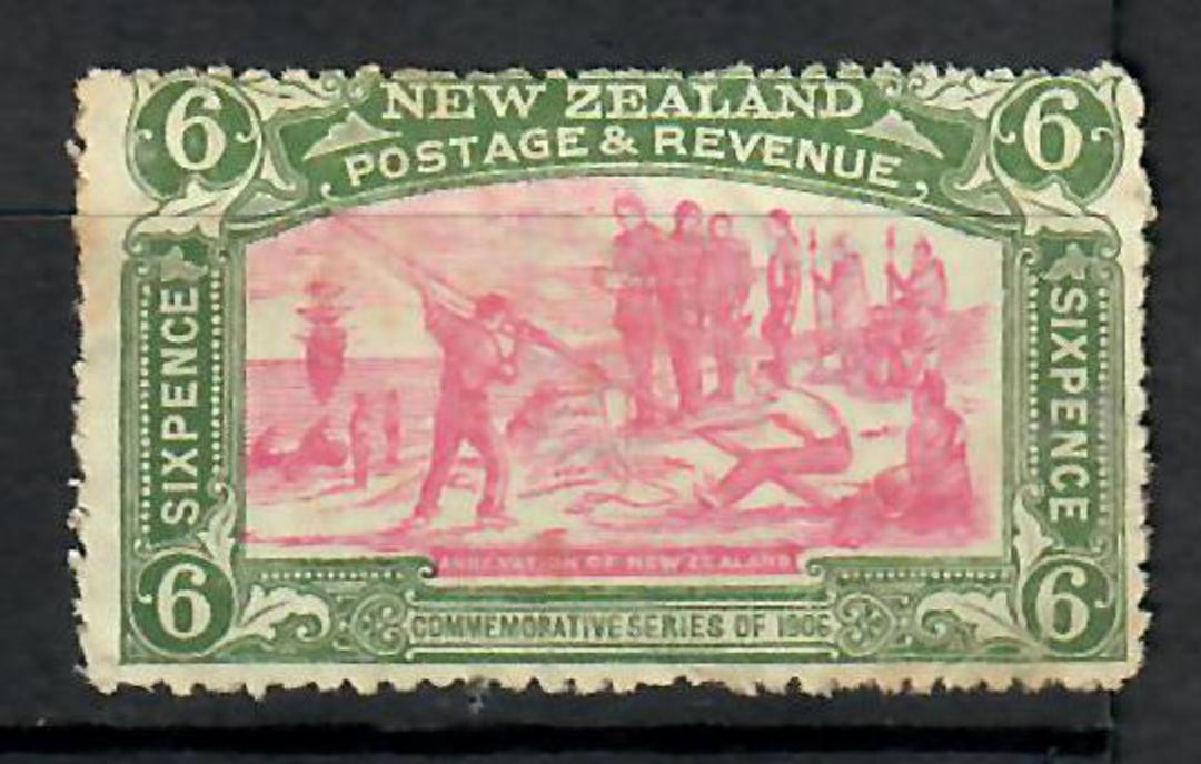 NEW ZEALAND 1906 Christchurch Exhibition 6d. UHM. Has paper fold/gum crease visible only at rear. Gum browned and in general not image 0