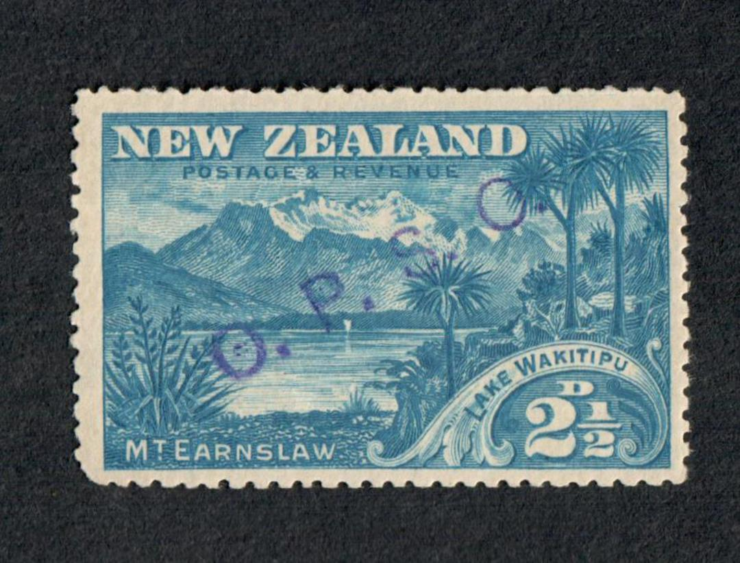 NEW ZEALAND 1898 Pictorial 2½d Blue overprinted OPSO. No Watermark. - 79416 - UHM image 0