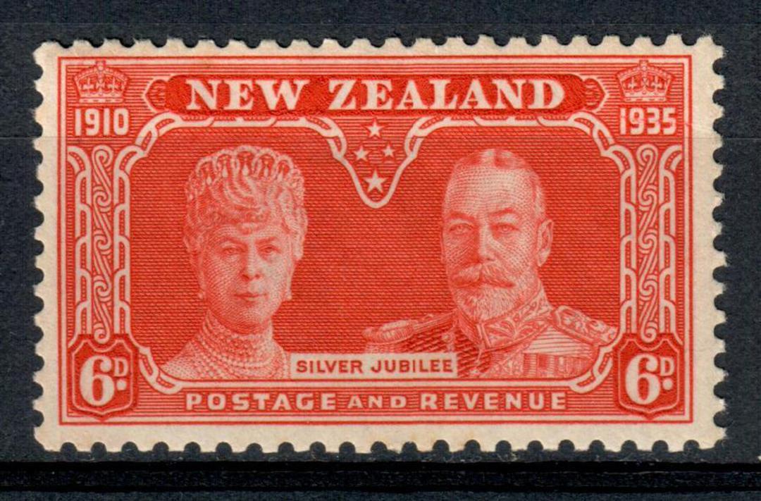 NEW ZEALAND 1935 Silver Jubilee 6d Orange. - 156 - UHM image 0