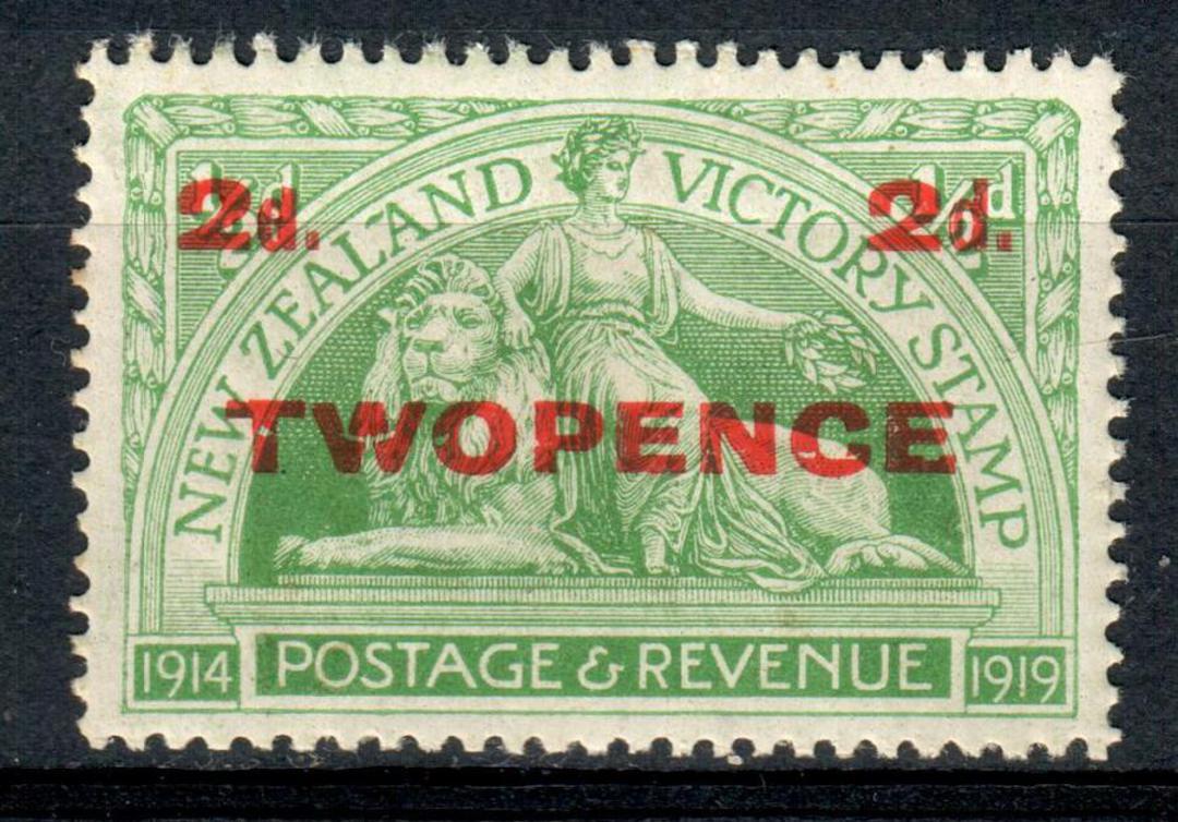 NEW ZEALAND 1920 Victory 2d Overprint. - 133 - UHM image 0