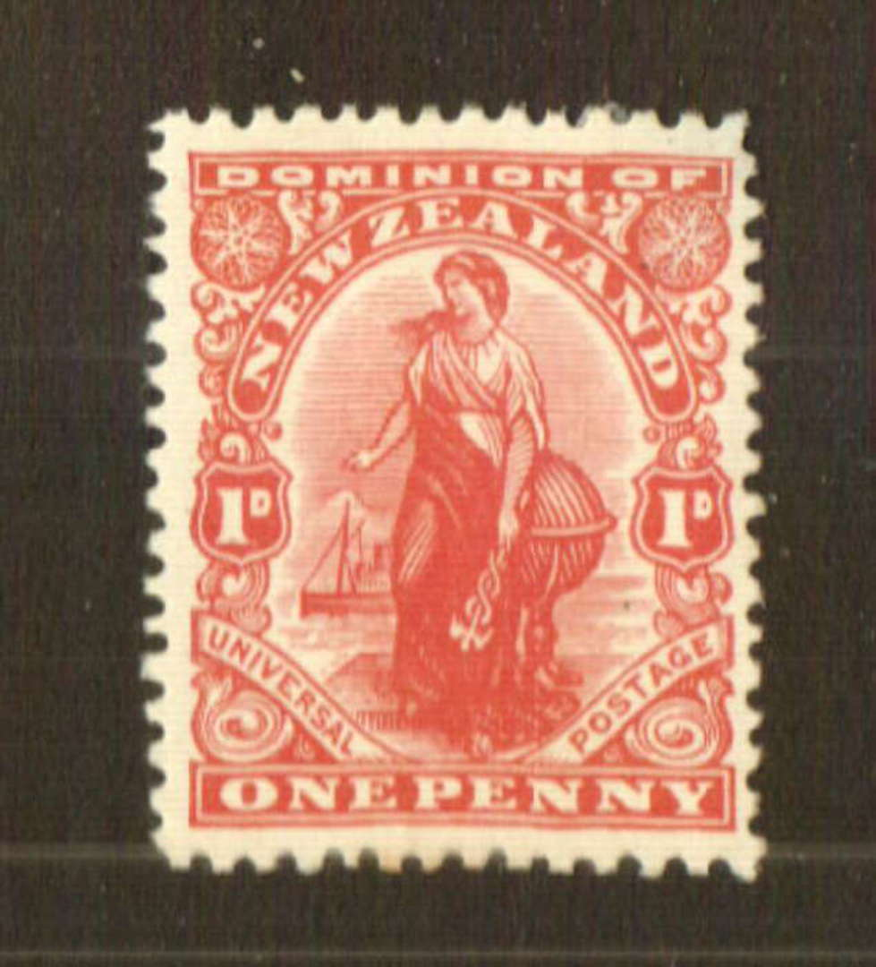 NEW ZEALAND 1926 1d Dominion. Art paper. Colourless Imitation Watermark Lithographed - 74769 - Mint image 0