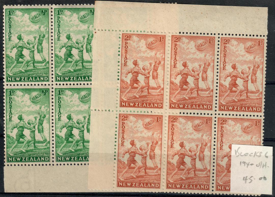 NEW ZEALAND 1940 Health. Blocks of 6. - 21135 - UHM image 0