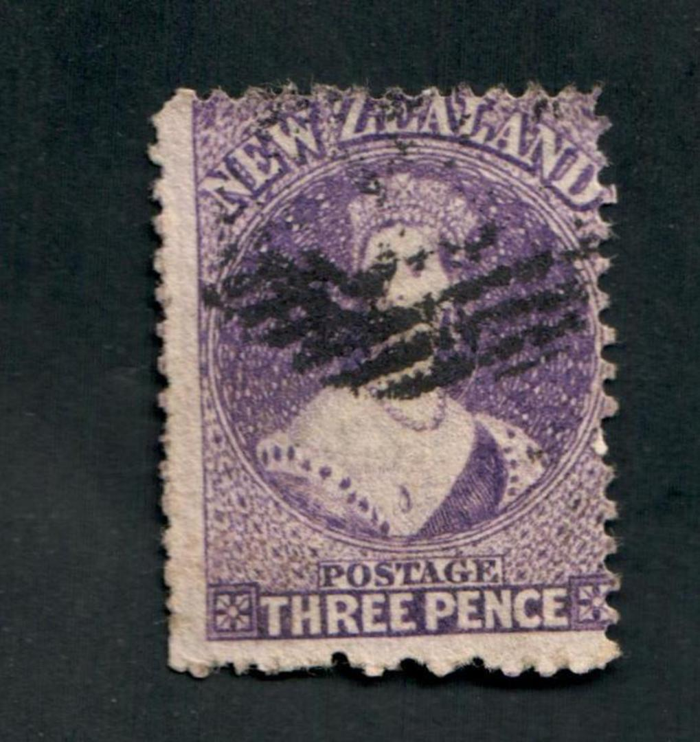 NEW ZEALAND 1862 Full Face Queen 3d Deep Mauve. Perf 12½ at Auckland. - 39243 - Used image 0