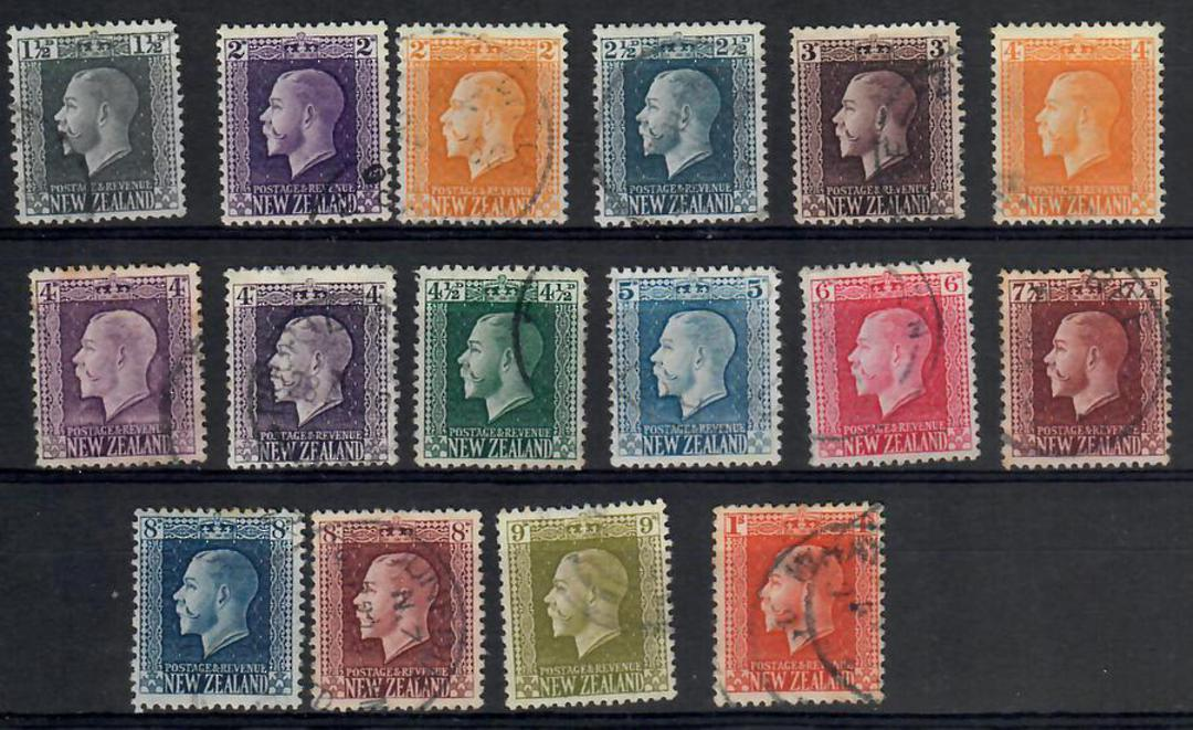 NEW ZEALAND 1915 Geo 5th Definitives. Set of 15. Recess. - 24852 - FU image 0