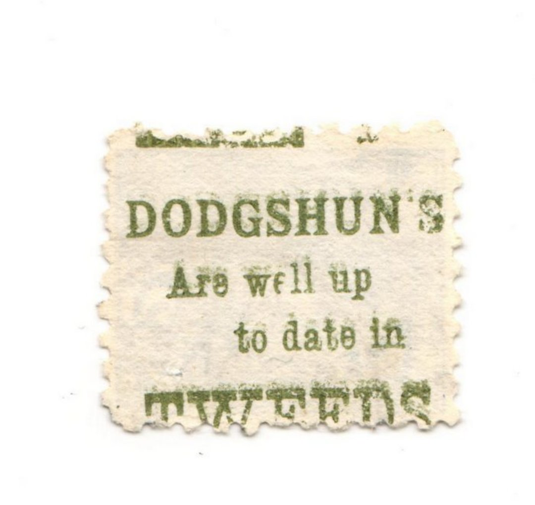 NEW ZEALAND 1882 Victoria 1st Second Sideface 2½d Blue. Dodgshun's are well up to date in Tweeds.  Perf 10. In green. - 3976 - F image 0
