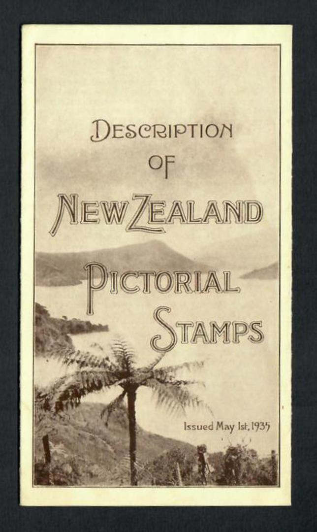 NEW ZEALAND POST OFFICE Publication on the 1935 Pictorial Issue. - 31540 - PostalHist image 0