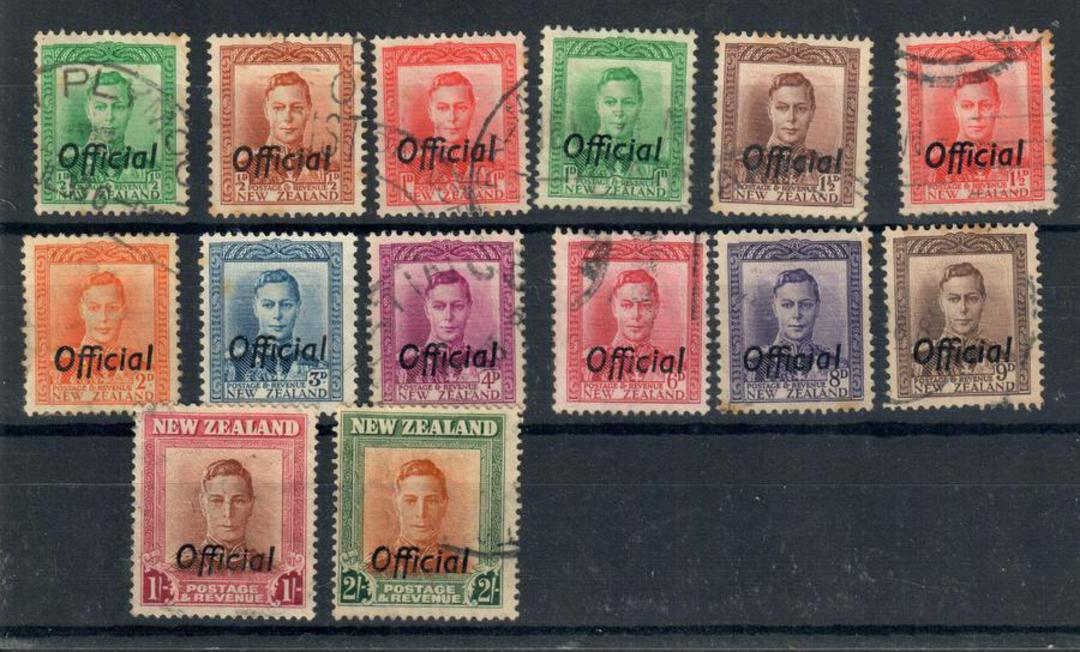 NEW ZEALAND 1938 Geo 6th Officials. Set of 14. - 24043 - VFU image 0