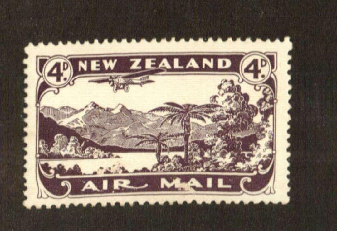 NEW ZEALAND 1931 Airmail 4d Purple. Slight toning. - 70732 - UHM image 0