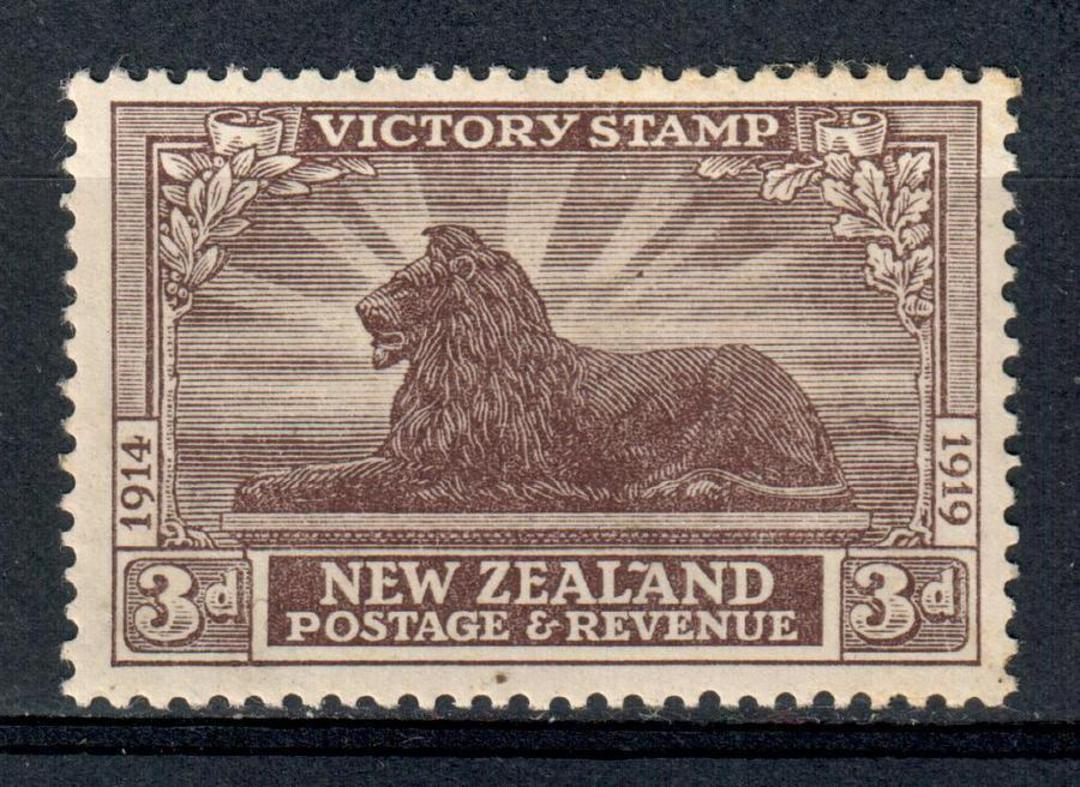 NEW ZEALAND 1920 Victory 3d Chocolate. Slight gum disturbance. - 39786 - UHM image 0