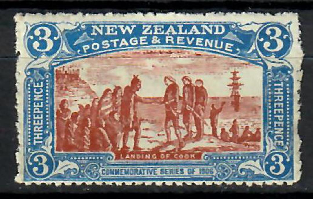 NEW ZEALAND 1906 Christchurch. Exhibition 3d Brown and Blue. - 70494 - Mint image 0