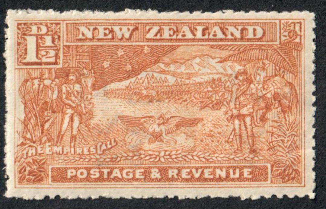 NEW ZEALAND 1898 Pictorial 1½d Boer War. Fine claen copy. - 4261 - Mint image 0
