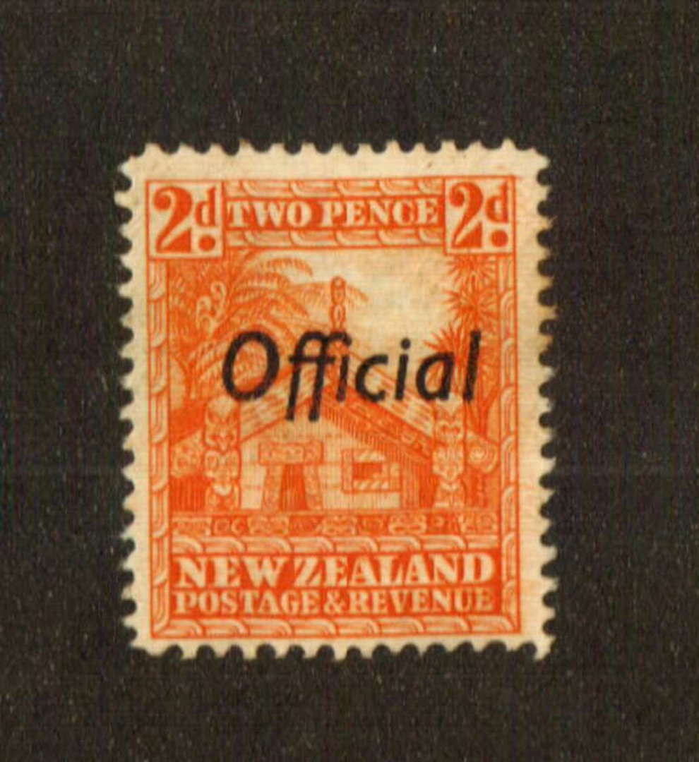NEW ZEALAND 1935 Pictorial Official 2d Orange. Perf 14 line. - 74751 - MNG image 0