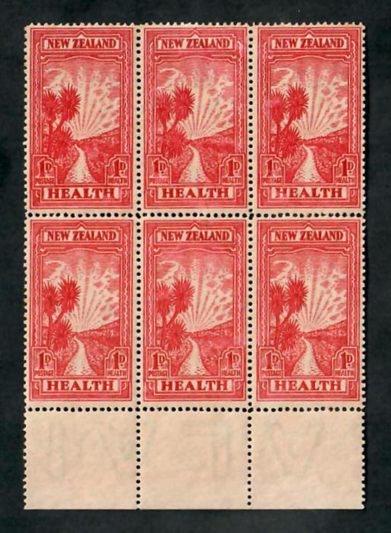 NEW ZEALAND 1933 Health. Block of six. - 20059 - UHM image 0