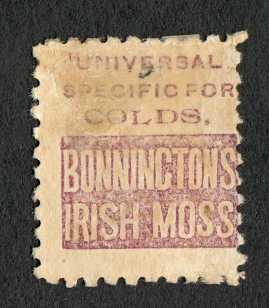 NEW ZEALAND 1882 Victoria 1st Second Sideface 3d Yellow with advert 2nd setting in Brown. - 75114 - Mint image 1