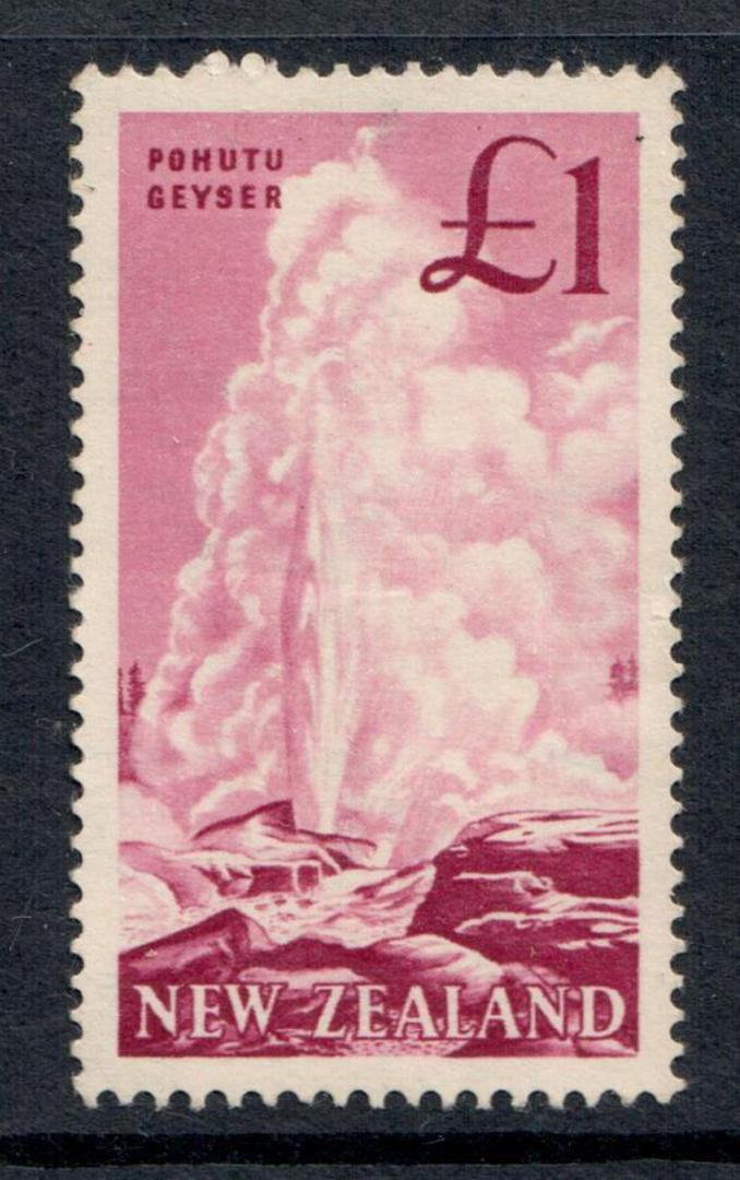 NEW ZEALAND 1960 Pictorial £1 Pink. - 364 - UHM image 0