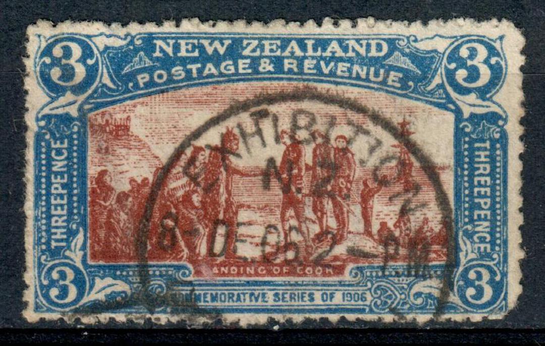 NEW ZEALAND 1906 Christchurch Exhibition 3d Landing. Excellent copy Exhibition cancel 8/12/1906. - 4195 - FU image 0