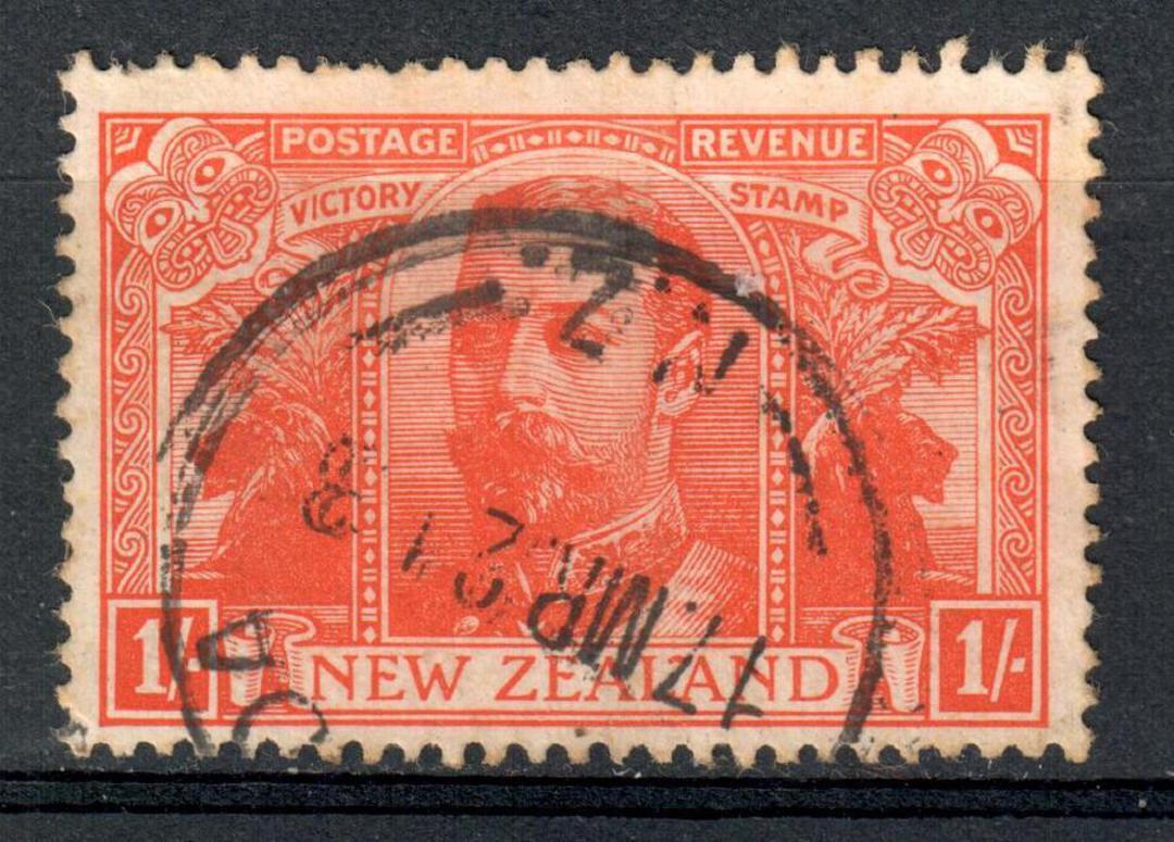 NEW ZEALAND 1920 Victory 1/- Orange. - 10136 - FU image 0