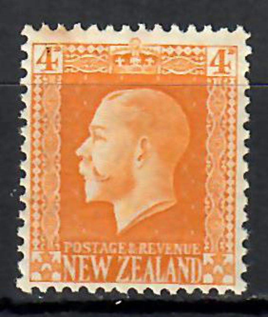 NEW ZEALAND 1915 Geo 5th Recess 4d Yellow. - 70668 - Mint image 0