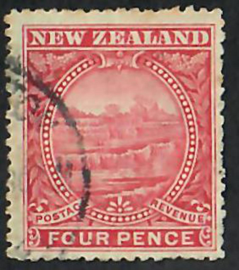 NEW ZEALAND 1898 Pictorial 4d Terraces. - 10043 - FU image 0