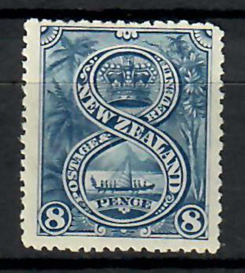 NEW ZEALAND 1898 Pictorial 8d Blue. London print. - 70458 - LHM image 0