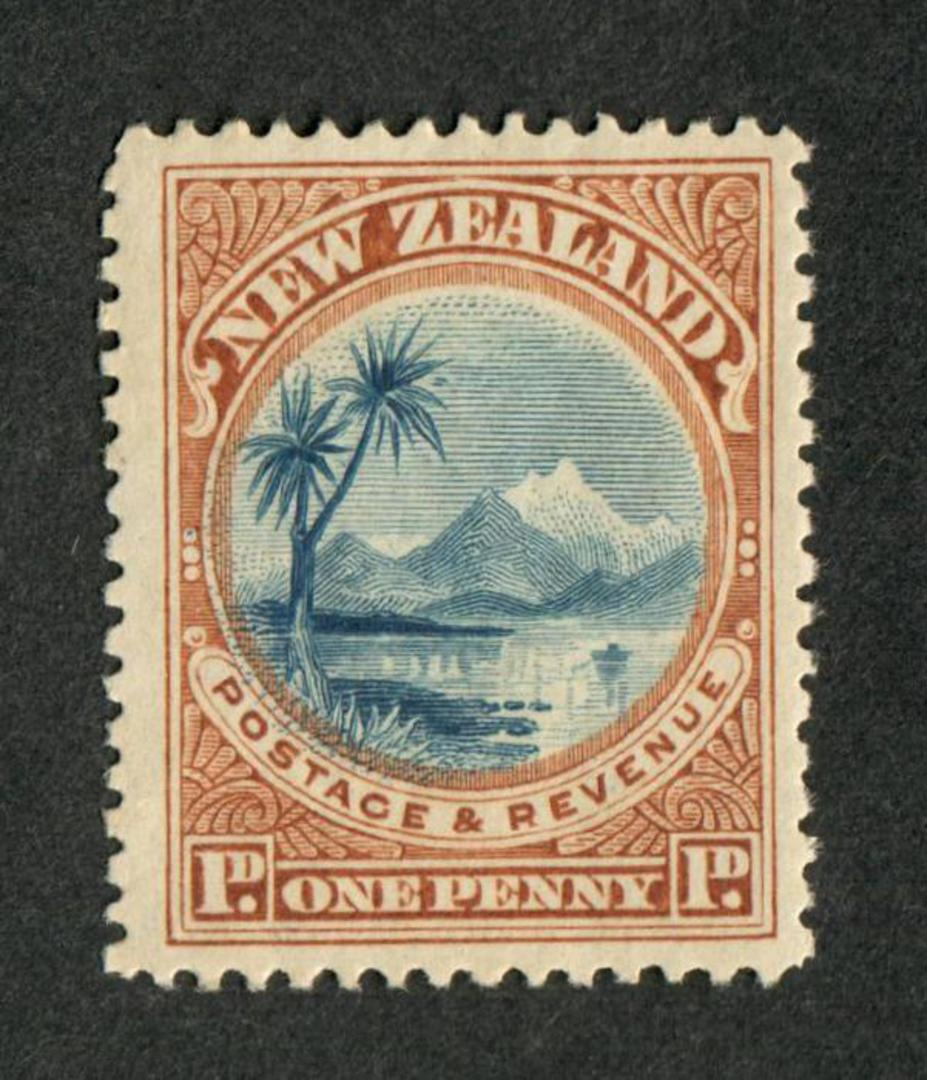 NEW ZEALAND 1898 Pictorial 1d Lake Taupo. - 38 - UHM image 0