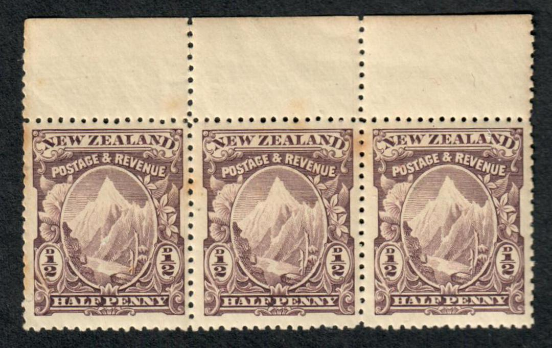 NEW ZEALAND 1898 Pictorial ½d Purple in mint never hinged. Perfect. CP E1a. - 79454 - UHM image 0