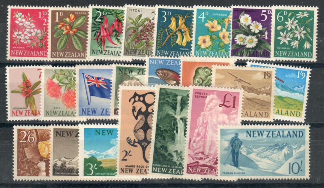 NEW ZEALAND 1960 Pictorials. Set of 23. - 24053 - UHM image 0