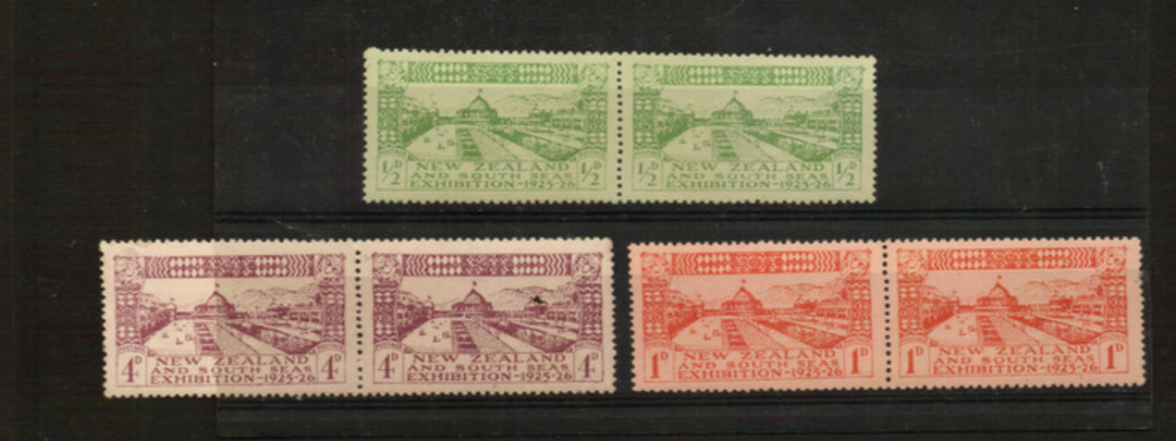 NEW ZEALAND 1925 Dunedin Exhibition. Two sets. Joined pairs. - 21036 - UHM image 0