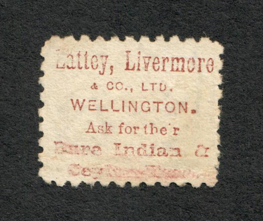 NEW ZEALAND 1882 Victoria 1st Second Sideface 6d Brown. Perf 10. 3rd setting in Brown-Red. Lalley Livermore. - 3999 - FU image 1