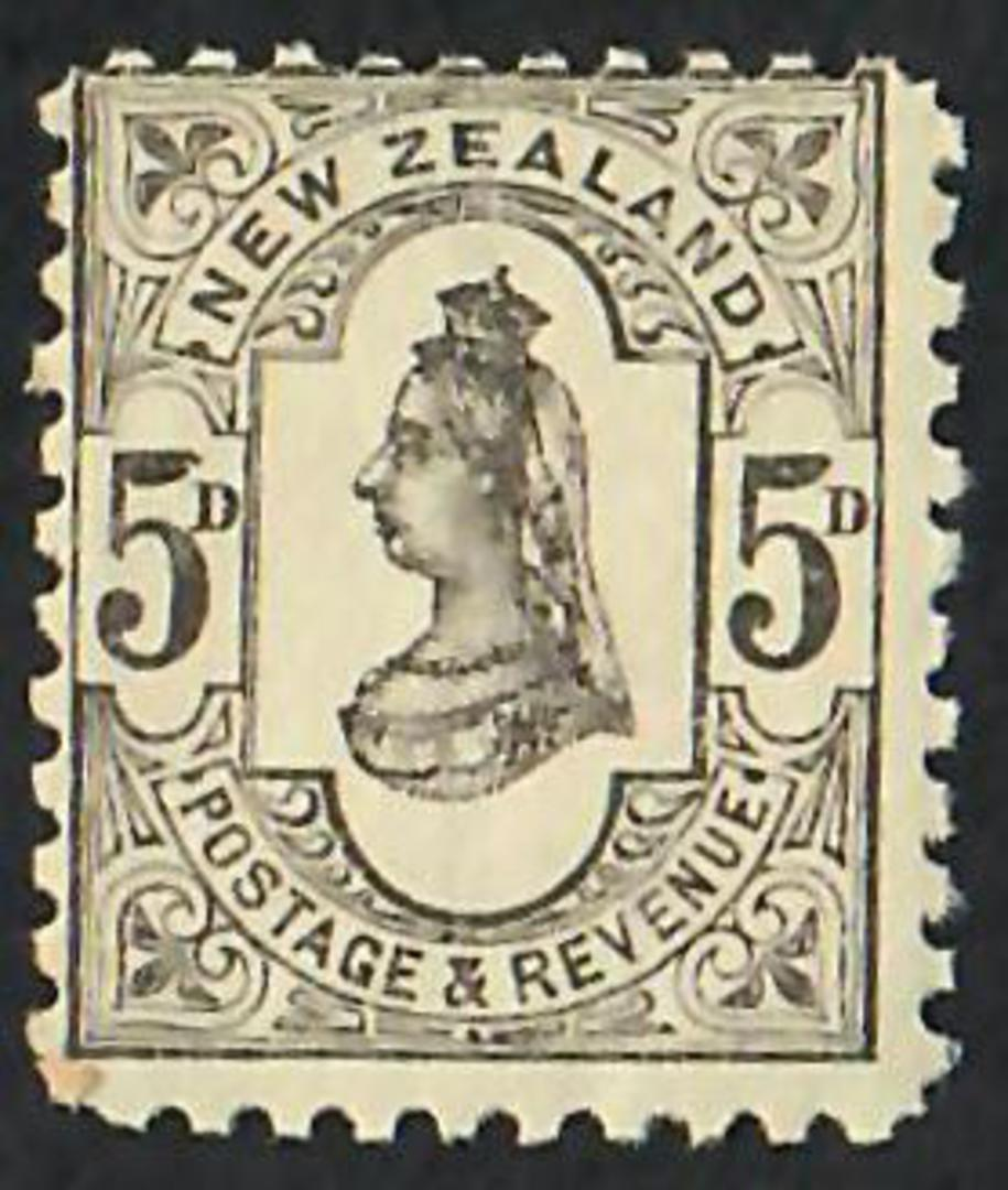 NEW ZEALAND 1882 Victoria 1st Second Sideface 5d Grey. - 74171 - UHM image 0