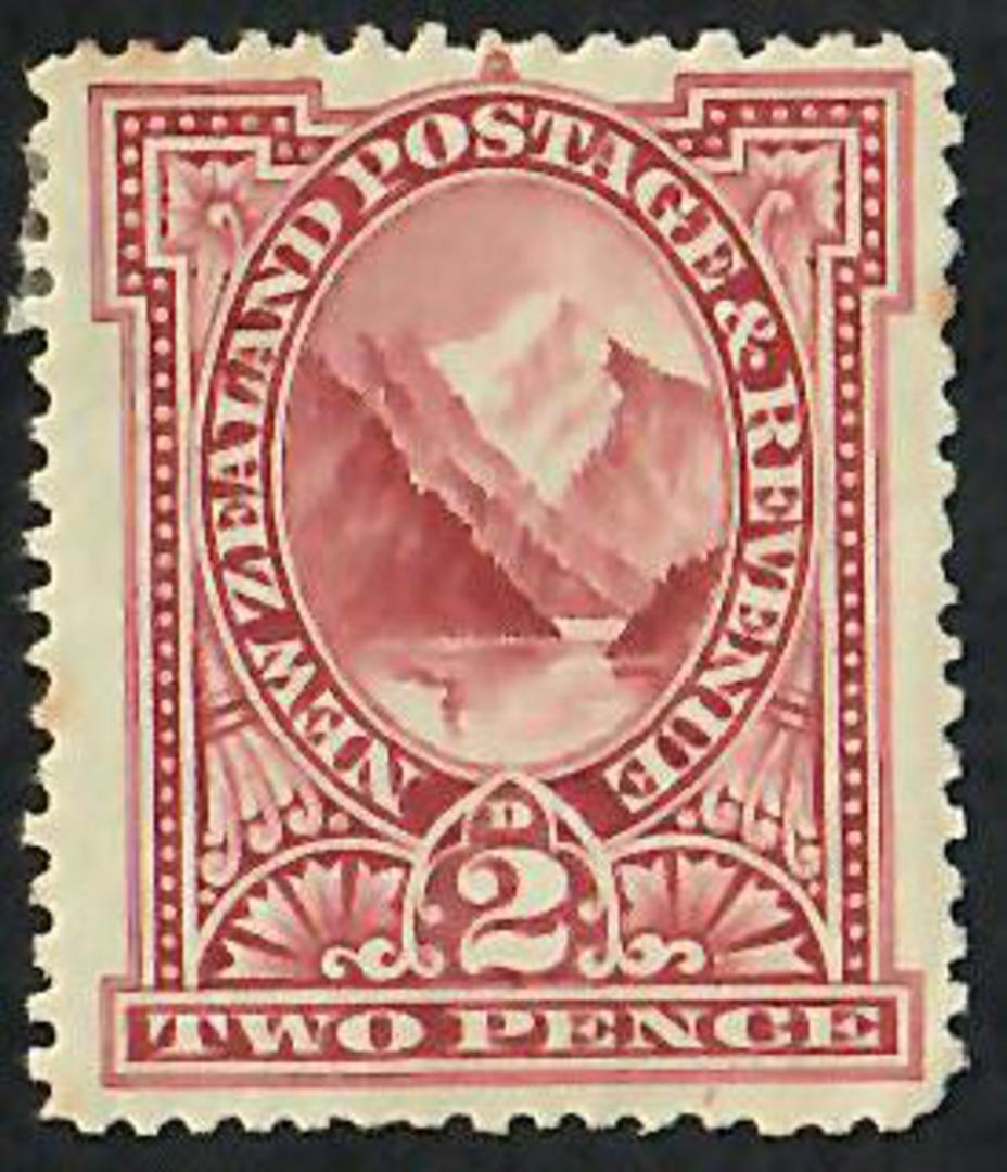 NEW ZEALAND 1898 Pictorial 2d Brown Lake. London Print. - 39 - Mint image 0