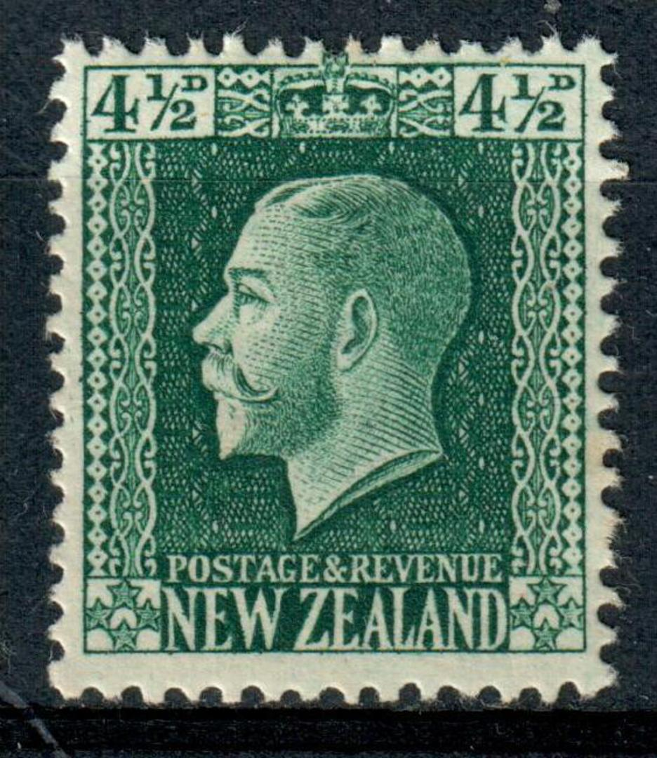 NEW ZEALAND 1915 Geo 5th Definitive 4½d Green. - 4301 - Mint image 0