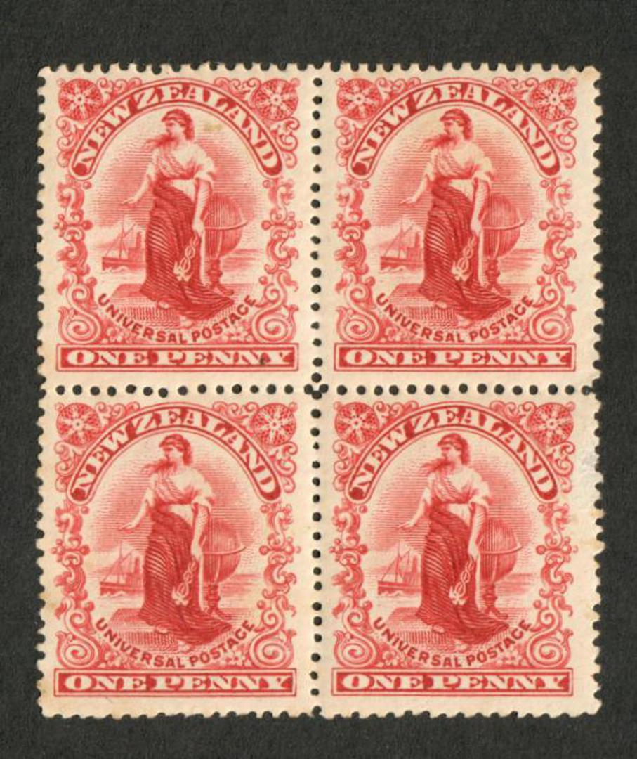 NEW ZEALAND 1901 1d Universal. Block of 4. Perf 16. - 74123 - UHM image 0