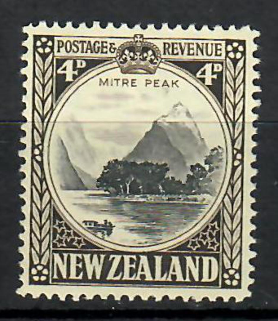 NEW ZEALAND 1935 Pictorial 4d. Perf 14 Line. - 70480 - MNG image 0