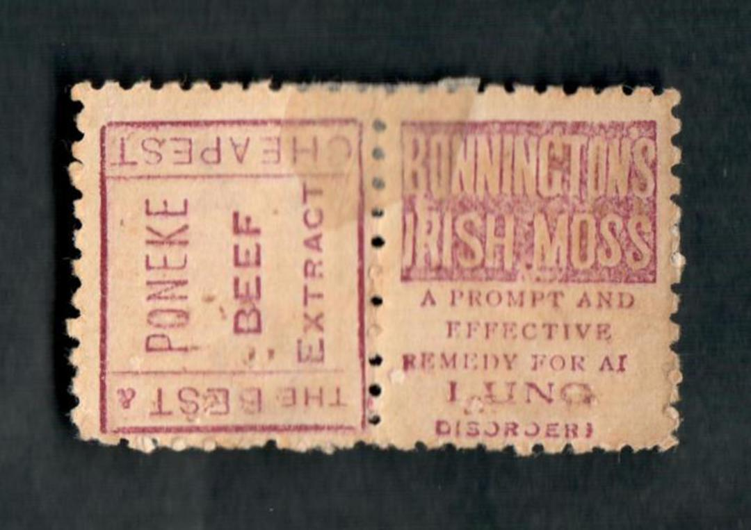 NEW ZEALAND 1893 Second Sideface 1d Red. Pair (one with the chisel flaw) and adverts from the 1st setting. Hinged mint but good image 1