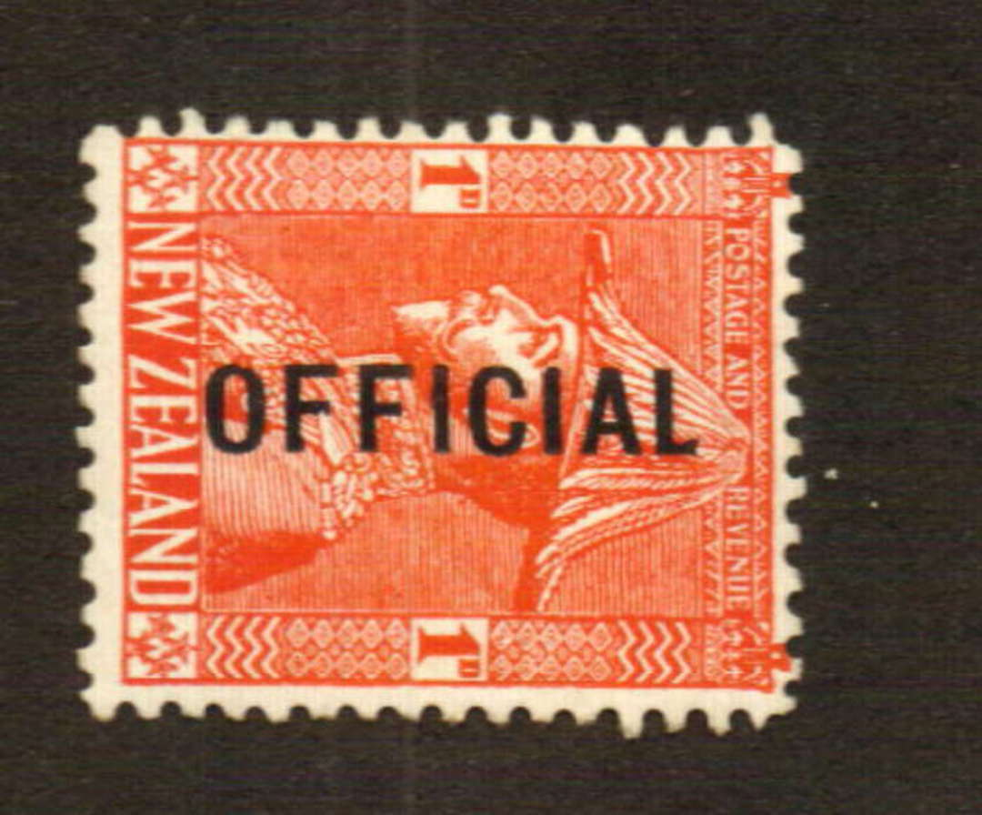 "NEW ZEALAND 1926 Geo 5th Admiral Official 1d Red with ""No Stop after ""Official"" flaw. - 74678 - LHM image 0"