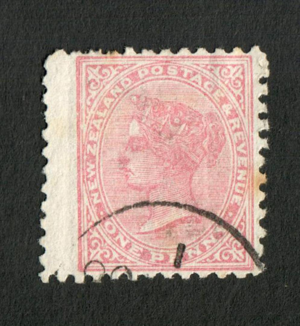 NEW ZEALAND 1882 Victoria 1st Second Sideface 1d Red. - 10028 - FU image 0