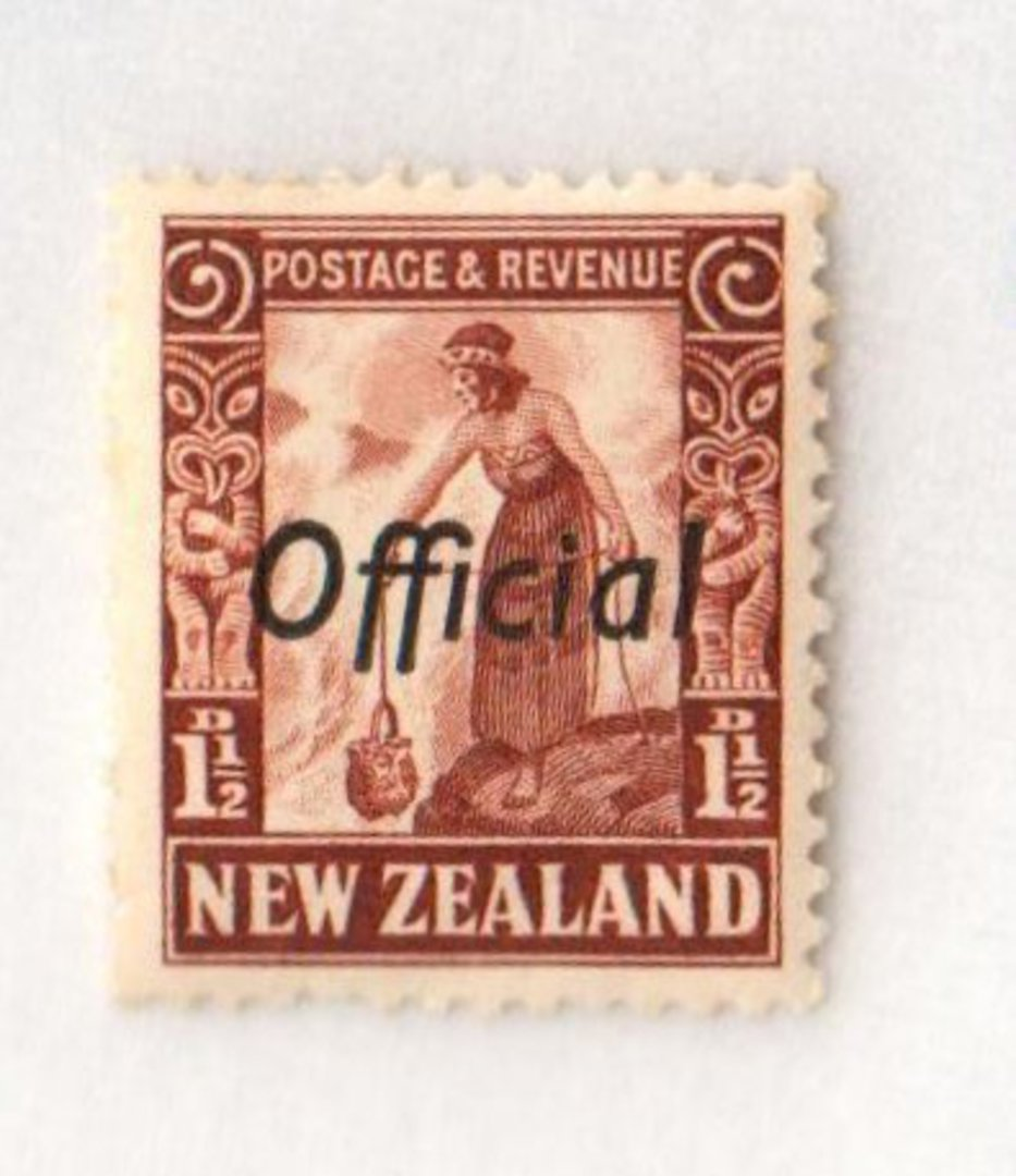 NEW ZEALAND 1935 Pictorial Official 1½d Red-Brown. - 174 - UHM image 0