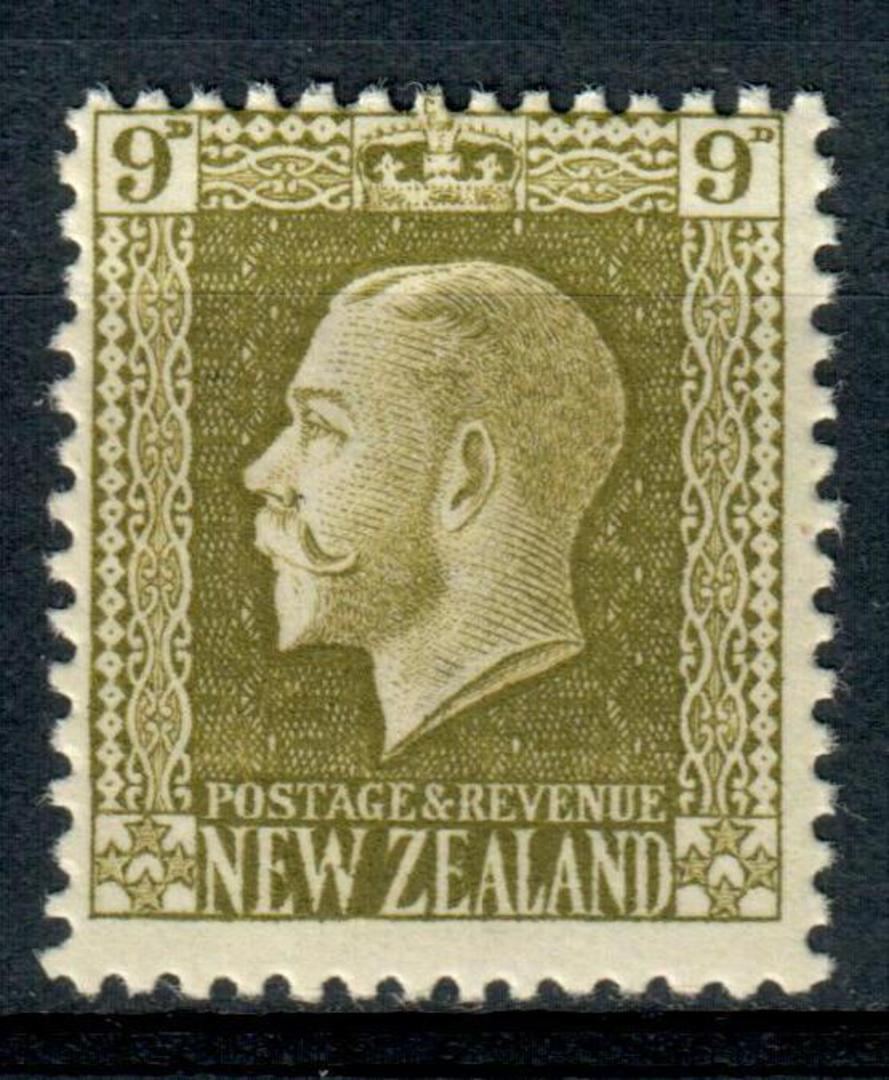 NEW ZEALAND 1915 Geo 5th Definitive 9d Olive. - 4304 - LHM image 0