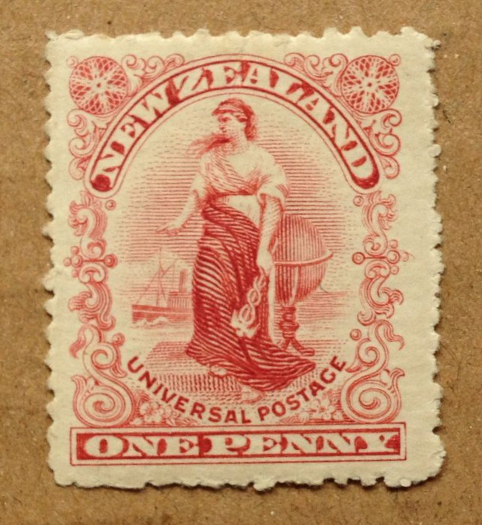 NEW ZEALAND 1d Universal Red. London Plate. Perf 16. - 75104 - Mint image 0