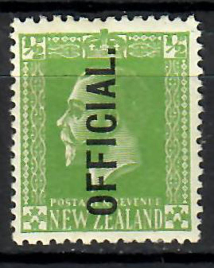 NEW ZEALAND 1915 Geo 5th Official ½d Green. Surface print. - 70641 - Mint image 0