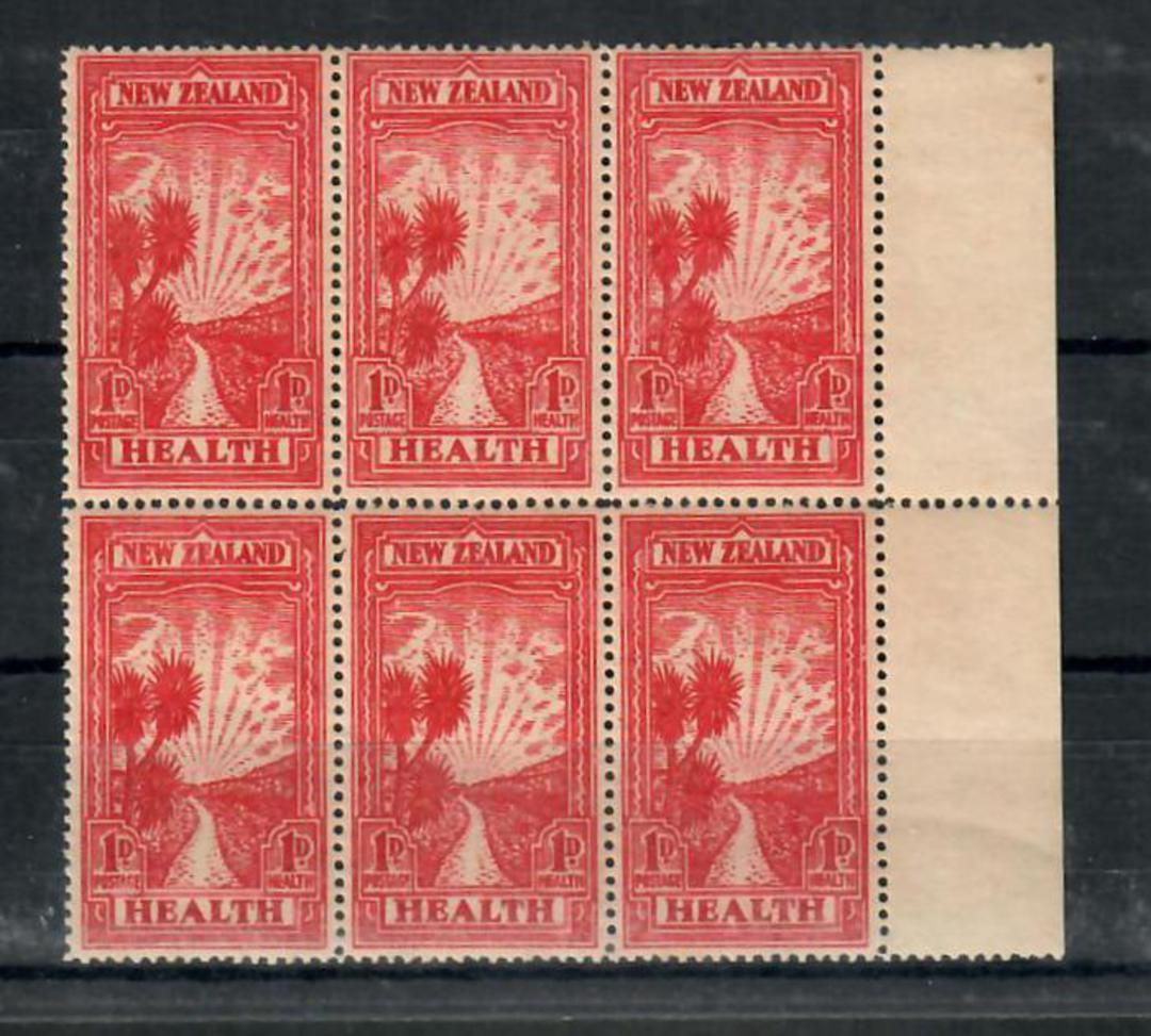 NEW ZEALAND 1933 Health. Block of 8. - 20008 - Block UHM image 0
